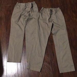 Lands' End Bottoms - 2 pair of Lands End uniform khaki pants
